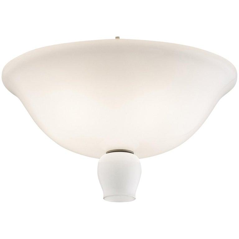 Anni Trenta Flush Light in White by Venini For Sale
