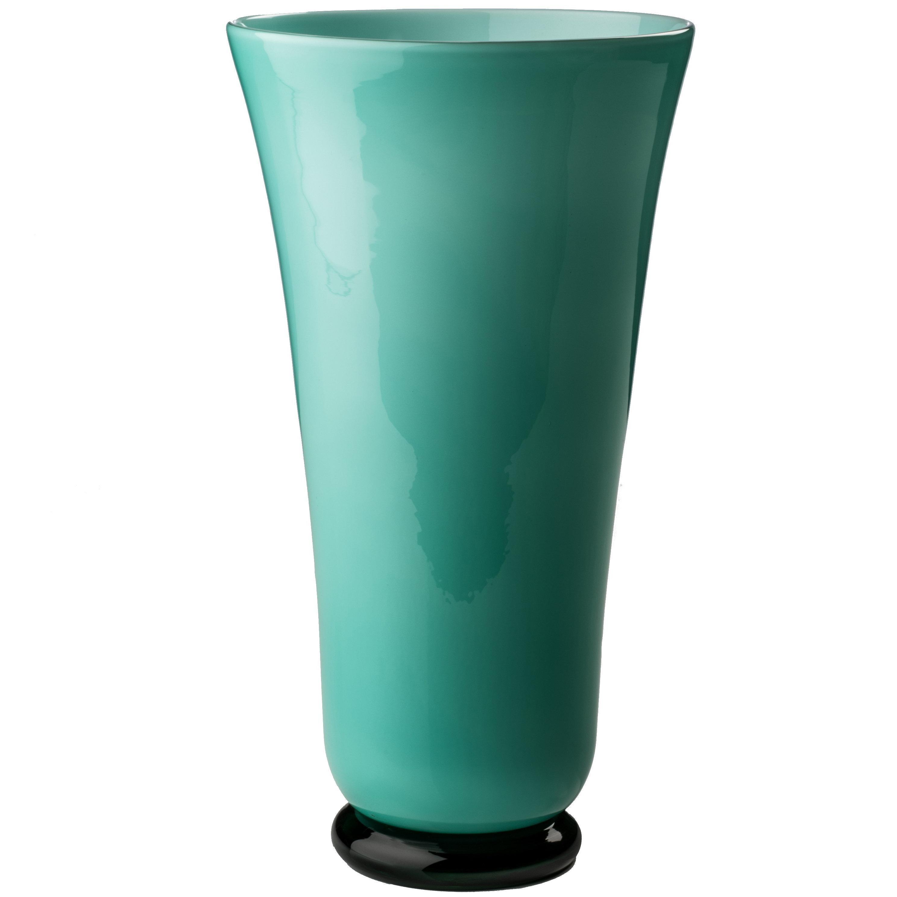 Anni Trenta Tall Glass Bowl in Mint Green by Venini