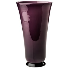 Anni Trenta Tall Glass Bowl in Violet by Venini