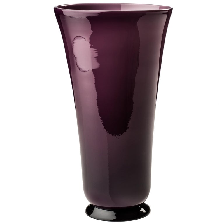 Anni Trenta Tall Glass Bowl in Violet by Venini For Sale