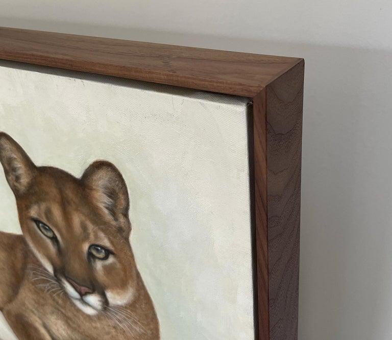 Contemporary Annick Biaudet, Original Painting, Cougar - Wildlife For Sale