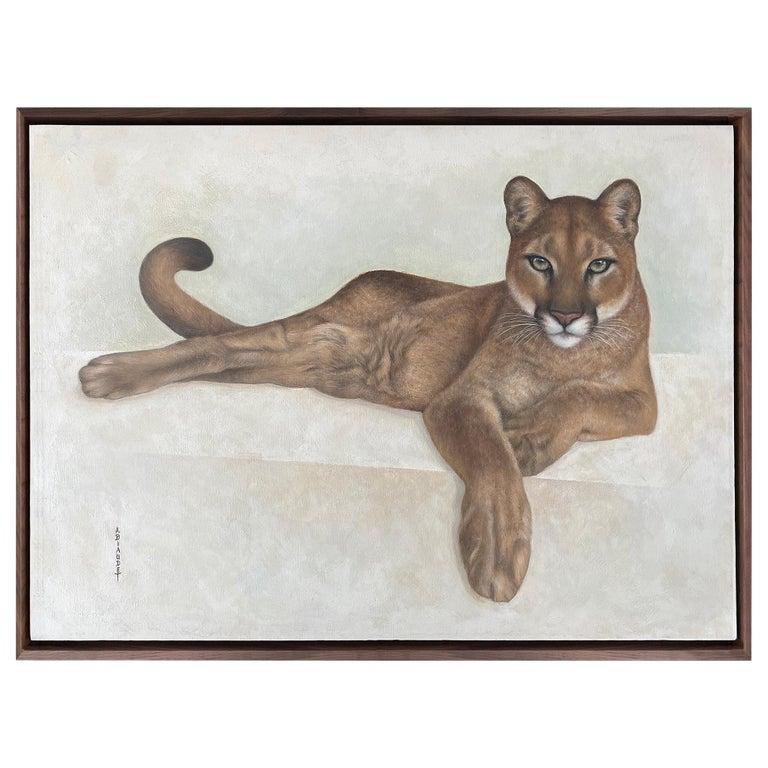 Annick Biaudet, Original Painting, Cougar - Wildlife For Sale