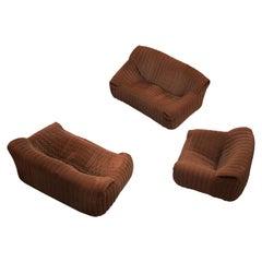 Annie Hiéronimus Lounge Set in Brown Fabric