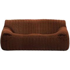 Annie Hiéronimus Two-Seat Sofa in Brown Fabric