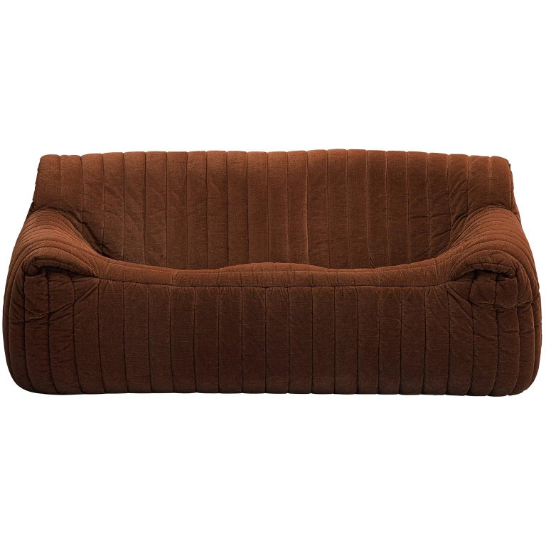 Annie Hiéronimus Two Seat Sofa In Brown Fabric