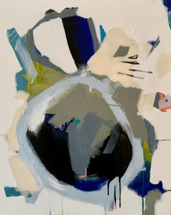 002 by Annie King 2020 Petite Vertical Abstract Painting on Canvas