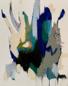 003 by Annie King 2020 Petite Vertical Abstract Painting on Canvas