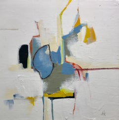 Abstracted 01 by Annie King, Acrylic and Charcoal on Canvas Abstract Painting
