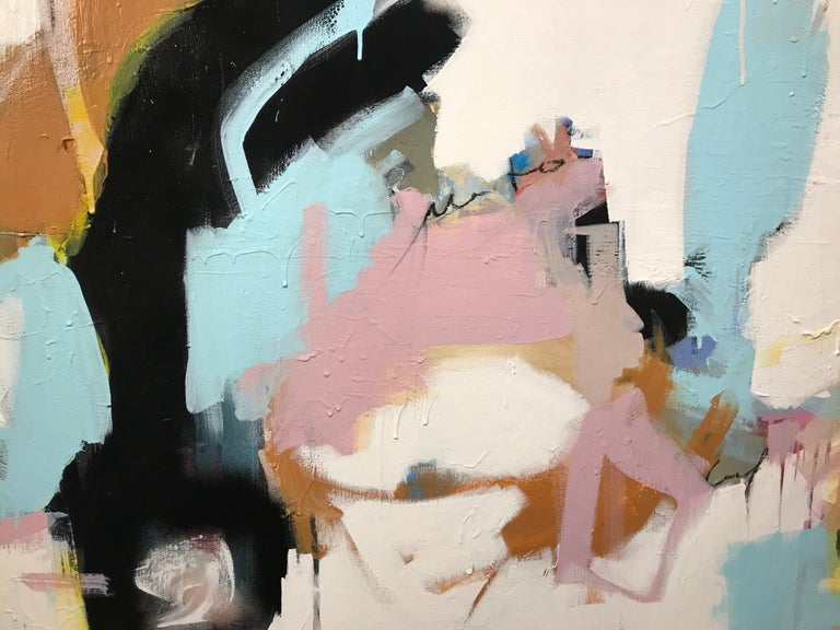 As Sweet as Honey by Annie King, Large Abstract Mixed Media on Canvas Painting For Sale 4