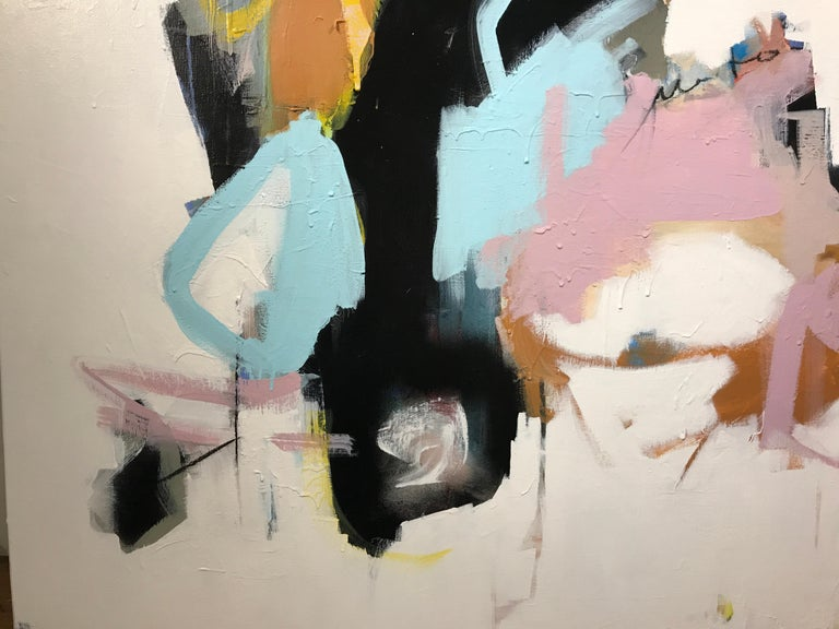 As Sweet as Honey by Annie King, Large Abstract Mixed Media on Canvas Painting For Sale 6