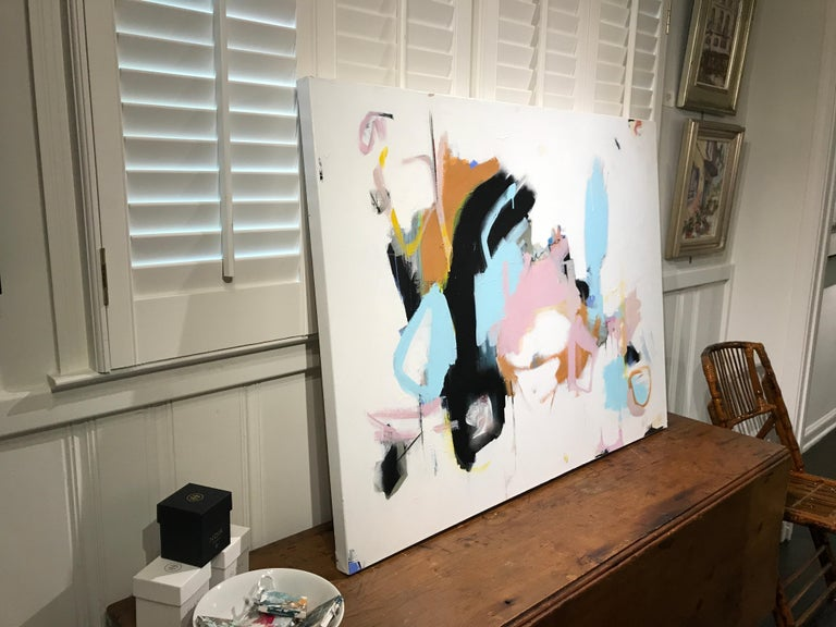 As Sweet as Honey by Annie King, Large Abstract Mixed Media on Canvas Painting For Sale 7