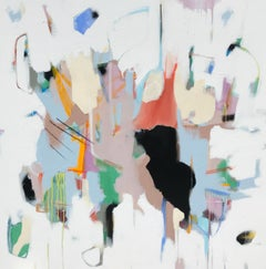 Cherish by Annie King, Large Square Mixed Media on Canvas Abstract Painting