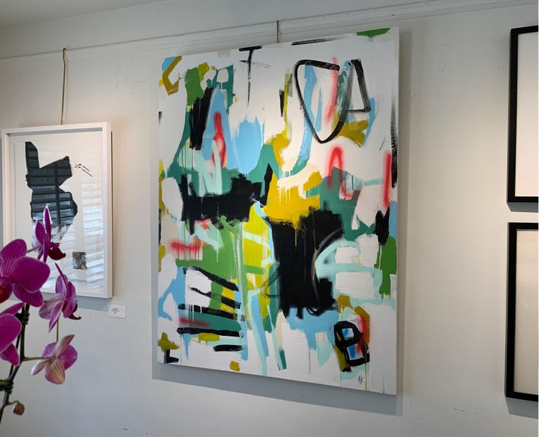 Here I Am by Annie King, Large Abstract Mixed Media on Canvas Painting For Sale 2