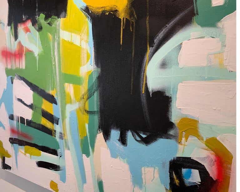 Here I Am by Annie King, Large Abstract Mixed Media on Canvas Painting For Sale 4