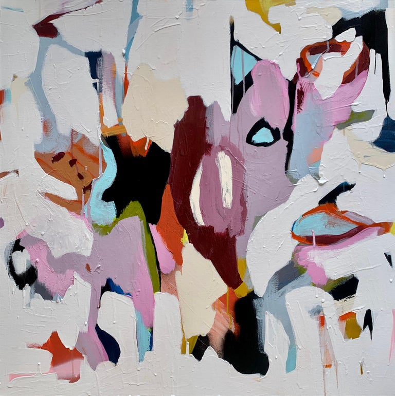 Annie King Abstract Painting - Morphosis I - Original abstract feminist mixed media painting contemporary art