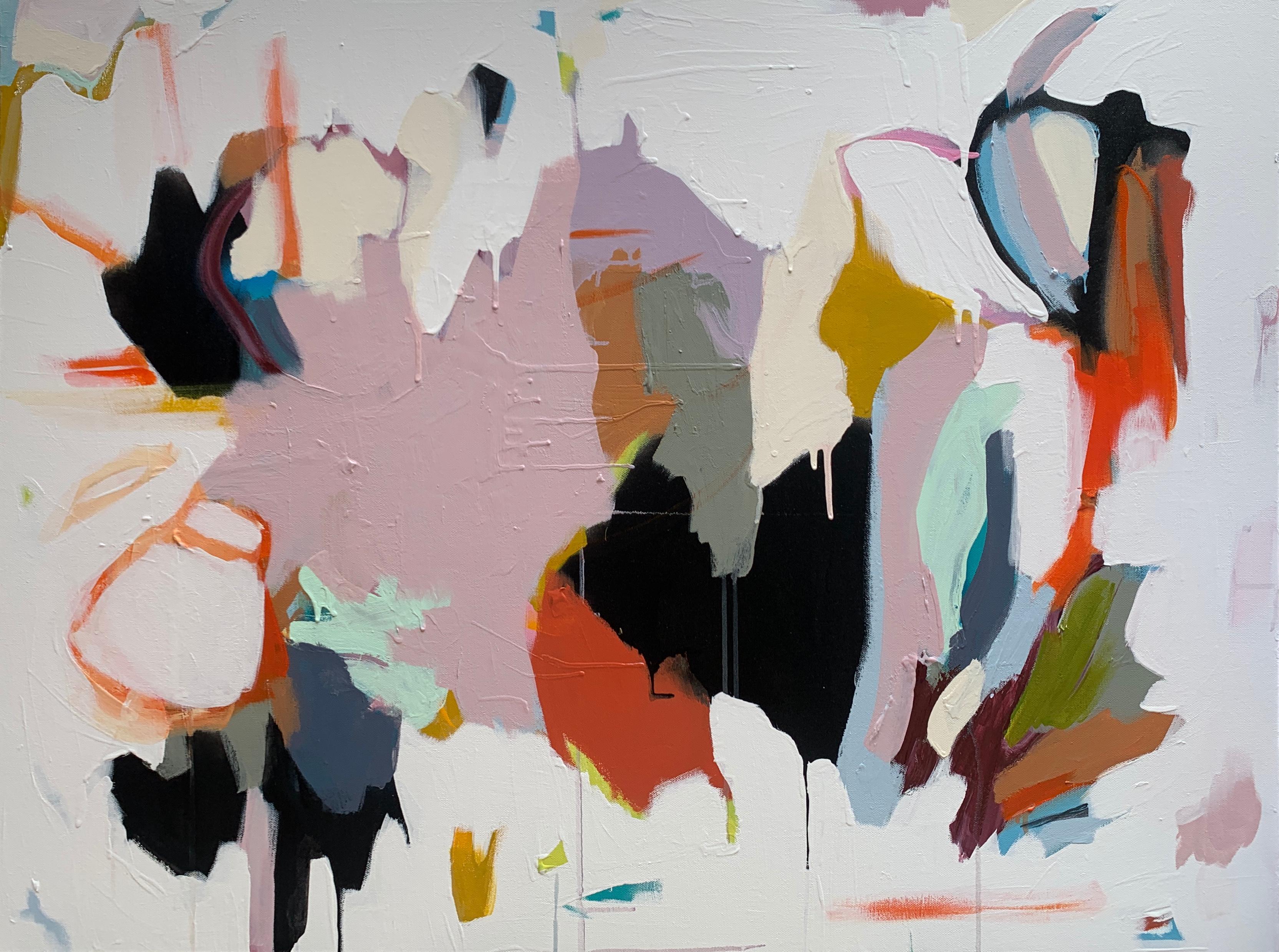 Morphosis III - Abstract mixed media painting modern Art minimalist acrylic