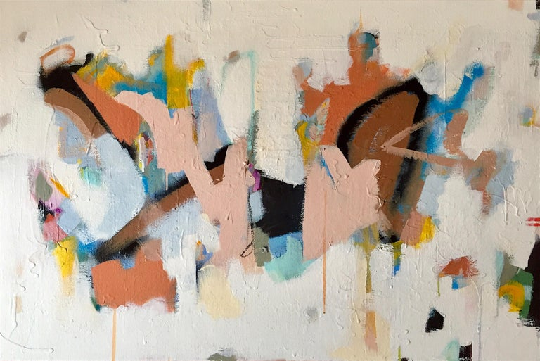 Annie King Abstract Painting - New Beginnings Abstract original painting Contemporary Art -21st Century