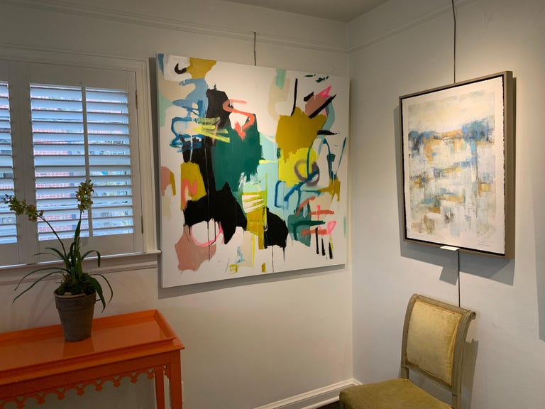 Prevailing Purpose by Annie King, Large Abstract Mixed Media on Canvas Painting For Sale 1