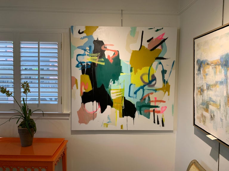 Prevailing Purpose by Annie King, Large Abstract Mixed Media on Canvas Painting For Sale 2