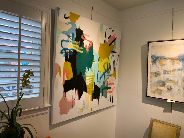 Prevailing Purpose by Annie King, Large Abstract Mixed Media on Canvas Painting For Sale 6
