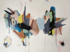 Purposeful by Annie King, Horizontal Abstract Acrylic on Canvas Painting