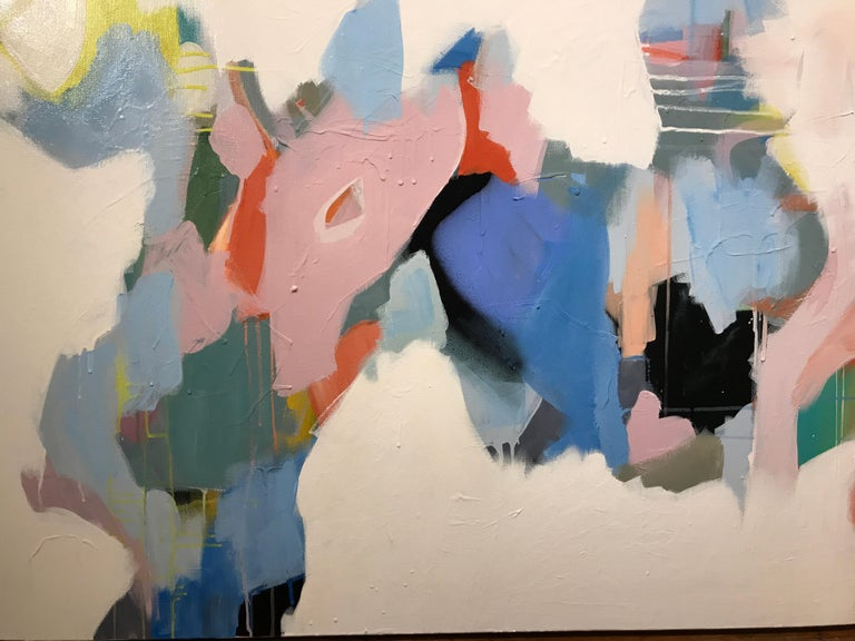 Set Apart by Annie King, Large Abstract Mixed Media on Canvas Painting For Sale 5