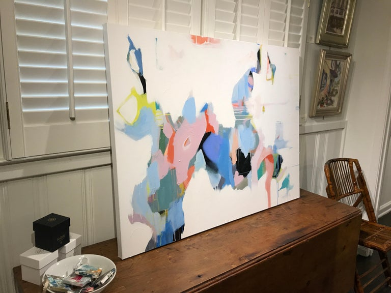 Set Apart by Annie King, Large Abstract Mixed Media on Canvas Painting For Sale 6