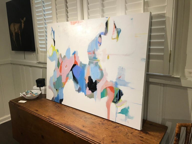 Set Apart by Annie King, Large Abstract Mixed Media on Canvas Painting For Sale 7