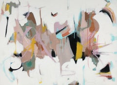Tell Me Anyways by Annie King, Large Horizontal Abstract Mixed Media Painting