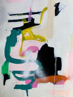 Untitled 144 by Annie King, Framed Abstract Mixed Media on Paper Painting