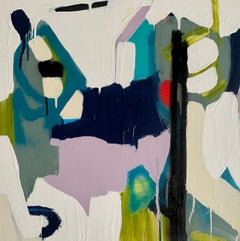Untitled 224 by Annie King, Petite Abstract Mixed Media on Canvas Painting
