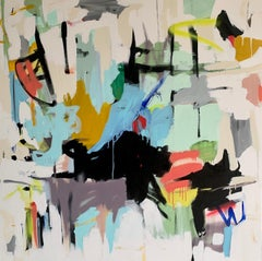 We are Almost Home by Annie King, Large Abstract Mixed Media on Canvas Painting