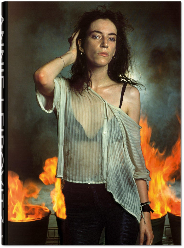 Patti Smith, New Orleans, Louisiana, 1978  Spanning the 40+ year career of photographed Annie Leibovitz. The book spans her work beginning reportage style photography following The Rolling Stones around on tour through her sought after stylized