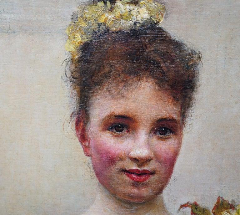 Debutante - British Victorian oil painting portrait Elsie Elizabeth Ebsworth  For Sale 7