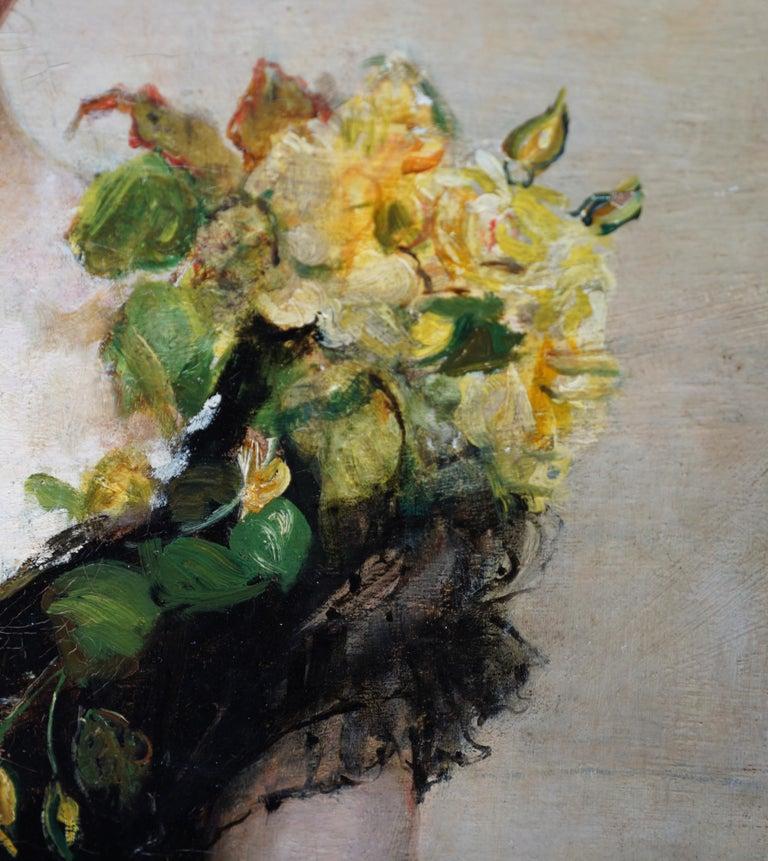 Debutante - British Victorian oil painting portrait Elsie Elizabeth Ebsworth  For Sale 8