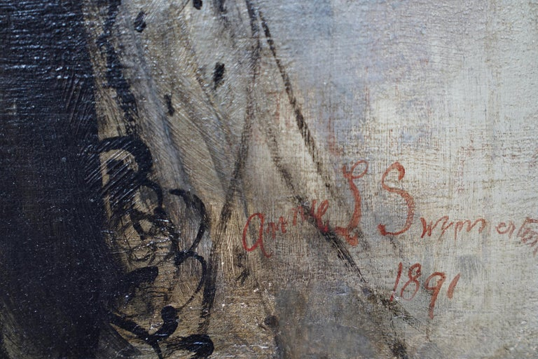 Debutante - British Victorian oil painting portrait Elsie Elizabeth Ebsworth  For Sale 10