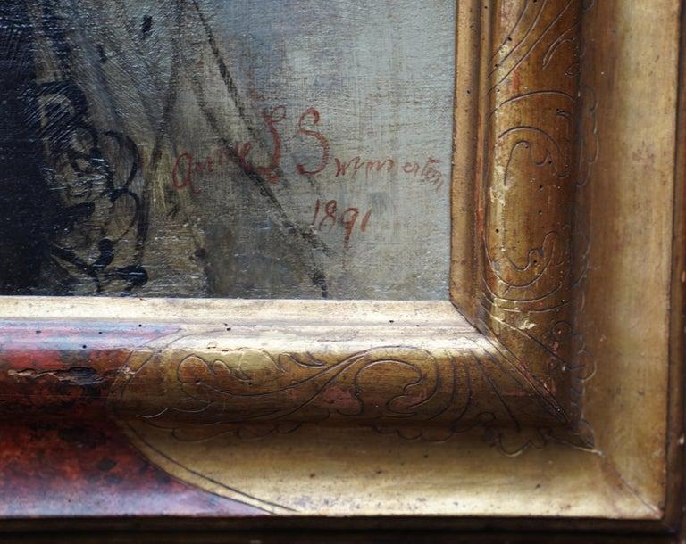 Debutante - British Victorian oil painting portrait Elsie Elizabeth Ebsworth  For Sale 11