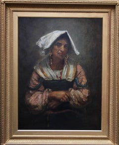 Roma Lady Jebsa - Victorian oil portrait exhibited Manchester Art Gallery 2018