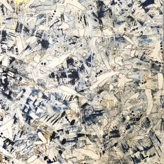 Family Chaos, 2021, Mixed Media, Abstract Painting on Canvas, Signed