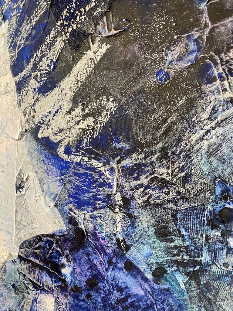 Off Balance, 2020, Mixed Media, Abstract Painting on Canvas, Signed  For Sale 1