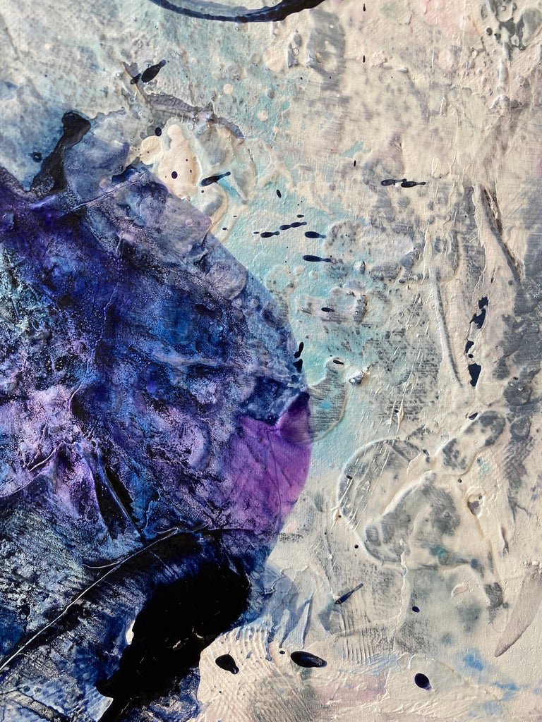 Off Balance, 2020, Mixed Media, Abstract Painting on Canvas, Signed  For Sale 4