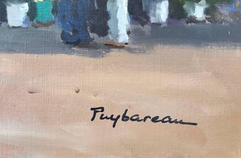 Marche  (Market) - Painting by Annie Puybareau