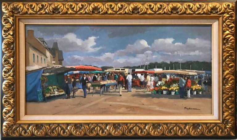 Marche  (Market) - Impressionist Painting by Annie Puybareau