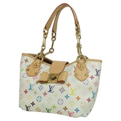 Louis Vuitton Annie MM  Womens  tote bag M40307  blanc Leather
