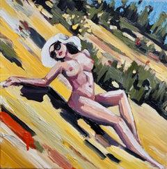 East Coast Summer, Oil on Canvas, Nude, Figurative Art, Signed