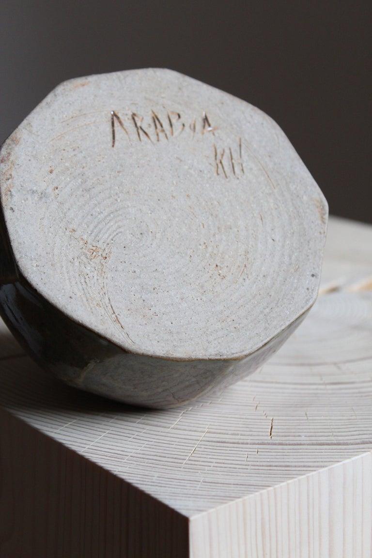 Annikki Hovisaari, Small Vase, Glazed Stoneware, Arabia, Finland, 1950s In Good Condition For Sale In West Palm Beach, FL