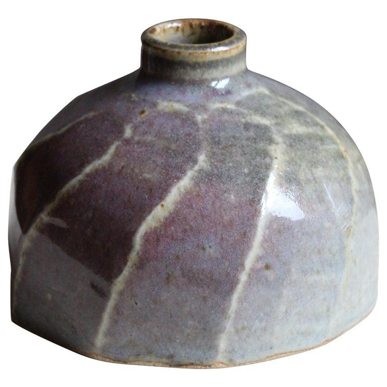 Annikki Hovisaari, Small Vase, Glazed Stoneware, Arabia, Finland, 1950s For Sale