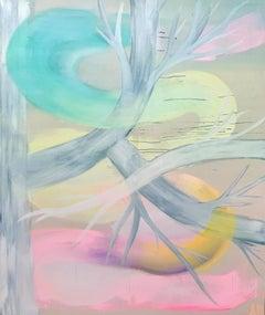 Birch - Contemporary Art, Female, 21stC., surrealism, abstract art, figure, tree