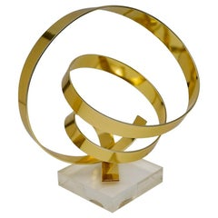 Anodized Aluminum Ribbon Swirl Sculpture
