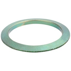 Anodized Titanium Green Bracelet with 2.70 Carat Green Garnet